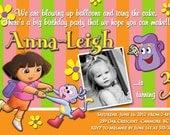Dora & Boots - Girl Birthday Invite - 5x7 Printable File