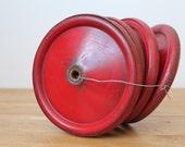Vintage Industrial Red Wagon Wheel