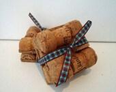Upcycled Champagne Cork (wine cork) Coasters - set of 4