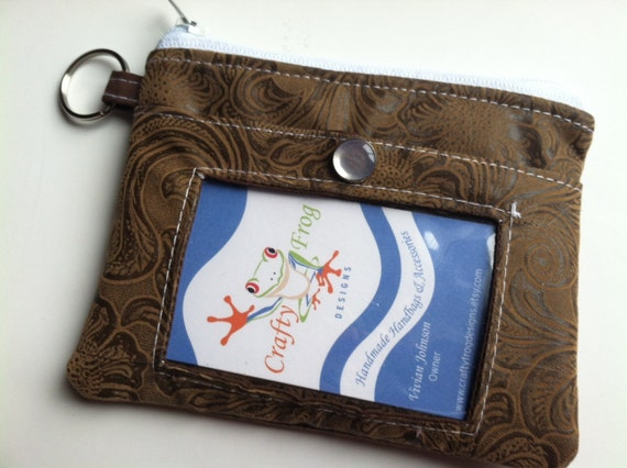 ID Zipper Pouch - ID holder - Pouch - ID - Badge - Coin Pouch - Zippered Coin Pouch -Boutique
