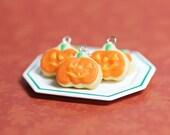 Halloween Jewelry Jack-O-Lantern Sugar Cookie Necklace Polymer Clay Food