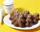 Gingerbread Man Polymer Clay Food Charm