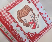 Rockabilly Cute Cherry Card