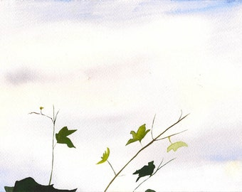 """Breath Above it All, 7 x 10 1/4"""" original watercolor painting"""