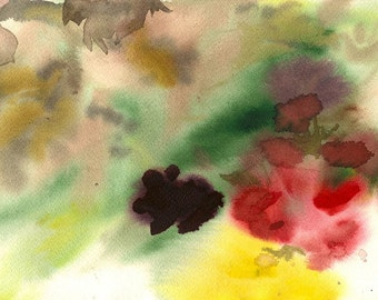 """They Emerged from the Woods, 7 x 10 1/4"""" original watercolor painting"""