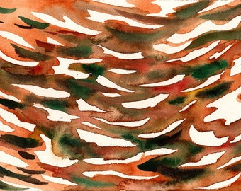 """Who Knows What Will Happen, 7 x 10 1/4"""" original watercolor painting"""