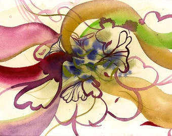 "I Like it Already, 7 x 10 1/4"" original watercolor painting"