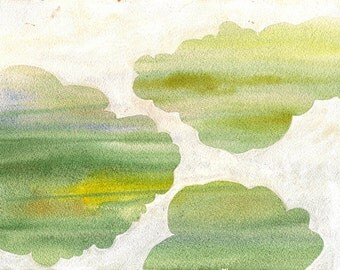 """Up the Mountain in Silence, 7 x 10 1/4"""" original watercolor painting"""