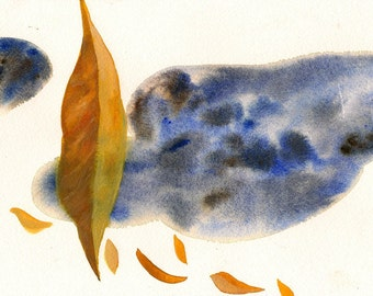 "Long Gone, 7 x 10 1/4"" original watercolor painting"