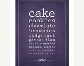 SALE SWEETS Decor Print Kitchen Cake Cookies