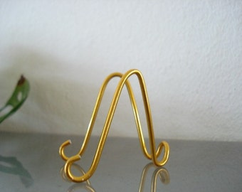 5 pk Small GOLD  MINI Easel Holders Business card Holders Table Number Holders, Photo, Promotion Display