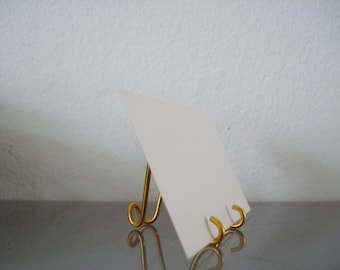 20 pk Small GOLD  MINI Easel Holders Business card Holders Table Number Holders, Photo, Promotion Display