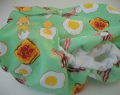 Bacon and Eggs One Size Pocket Diaper by SquishyFace Baby