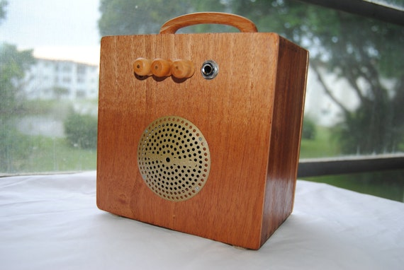 "Cigar Box Amplifier / MP3 Speaker ""Acid Rain"" Ready To Ship"