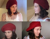 Instant Download EaSY Crochet Pattern Lots of Looks 1 Hat Beret Tam Cap Slouch