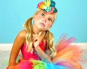 Circus Clown Mini Top Hat...Halloween Clown Costume, Rainbow Clown Hat, Birthday Hat...Glitter Hat for Toddlers, Girls, Women . . .  CANDI