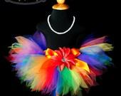 Colorful Primary Rainbow Tutu...Rainbow Birthday Tutu, Sesame Street Tutu, Clown Tutu, Dance Tutu, Clown Tutu . . . RAINBOW PIXIE