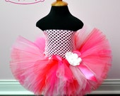 Valentine's Day Pink White and Red Tutu...Pink Birthday Tutu, Valentine's Day Portrait Tutu, Valentine Dance Tutu. . . TICKLED PINK