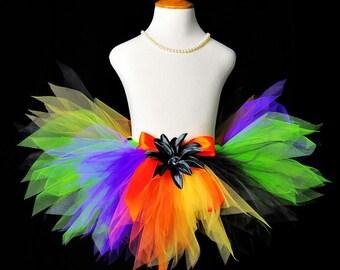 Halloween Witch Tutu...Halloween Rainbow Tutu...Witch Costume Tutu for Baby, Toddler, Girls Sizes . . . HALLOWEEN PIXIE
