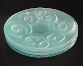 Recycled Glass Dinner Plates, Set of 4,