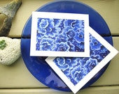 Sea Rose - Blue Ocean Cards - Sea Stationery - Set of 2 Fine Art Note Cards