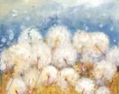 "Dandelion Art - Painting Print - Wish Flower - Wall Decor - Kitchen Art Decor - 8x8"" Painting Flower Art Print"