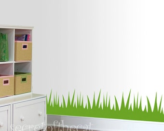 Grass Wall Decal Etsy - Vinyl wall decals borders