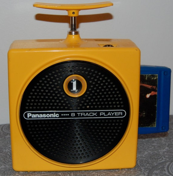 Inside Of A 8 Track Tape: Panasonic TNT 8-Track Player And Tapes