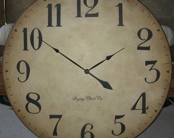 36 inch Large Wall Clock Tuscan Antique Style Arabic Personalized Custom Gallery