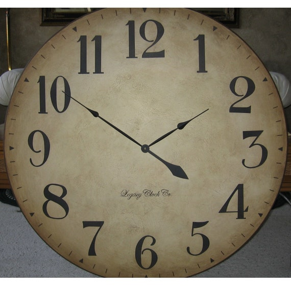 36 Inch Large Wall Clock Tuscan Antique Style By Bigclockshop