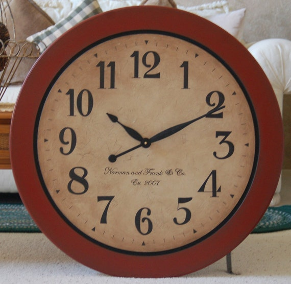 large wall clock 30 inch antique style gallery rustic tuscan