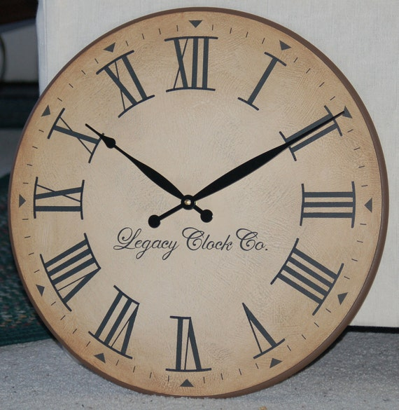 18 Inch Large Wall Clock Antique Rustic Tuscan Gallery