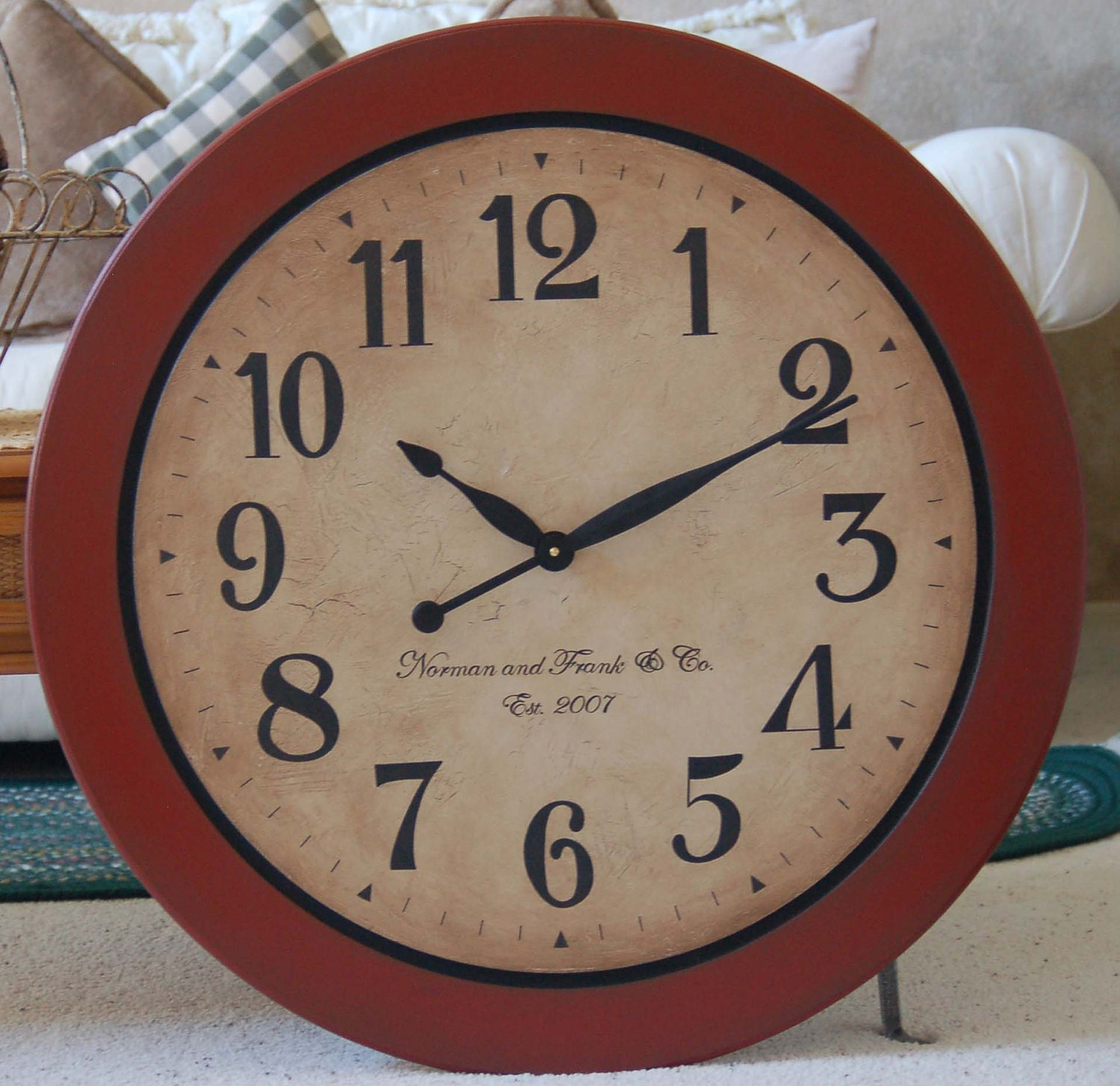 24 Inch Large Wall Clock Tuscan Antique Style By Bigclockshop