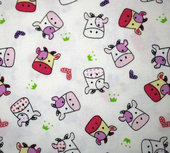 Kawaii  Cows Pink 1 Yard