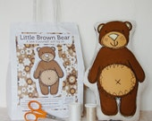 Little Brown Bear. A 'Sew it Yourself' Soft Toy Kit.