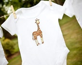 Little Giraffe Onesie/Bodysuit. Available as a tee
