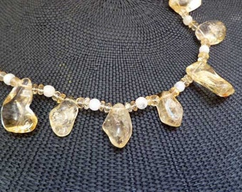 Citrine and Moonstone  Necklace