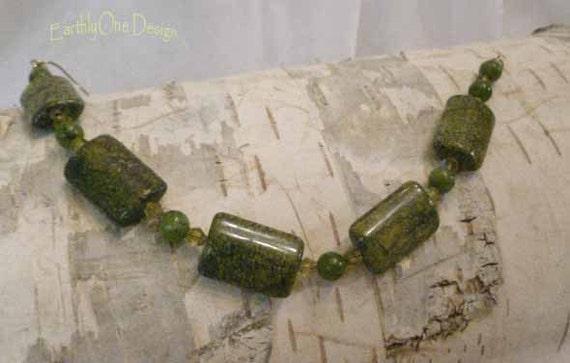 Green Tiger Jade and Nephrite Bracelet