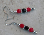 Black and Red Swarovski Earrings