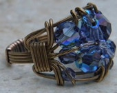Tanzanite Crystal Vintage Bronze Ring