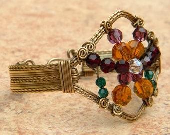 Crystal Rainbow Cuff Bracelet