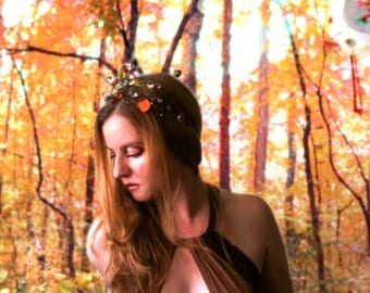 CLEARANCE - Woodland Crown in Dryad - Autumn Leaves, Branches and Glass Berries