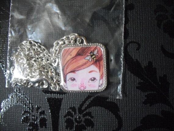 Beehive- Art necklace