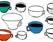 coffee cups 5x7 print
