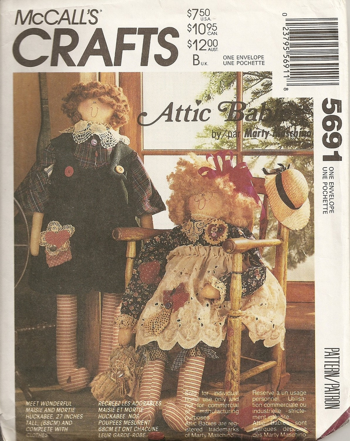 Mccall S Crafts Attic Babies 5691 Doll And Clothes Uncut
