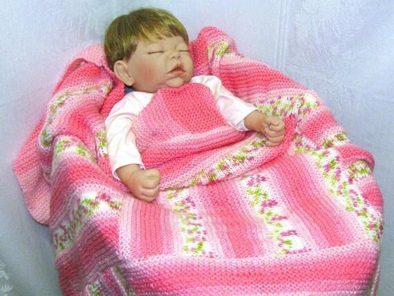 Pink Baby Blanket, Pink Flowers Baby Blanket, Flowers Baby Blanket, Baby Blanket, Roses, Roses Baby Blanket, Pink Nursery Blanket, Pink Rose