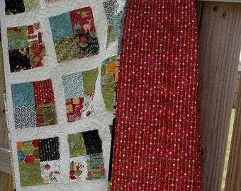 custom scruffy patchwork throw quilt (36x36)