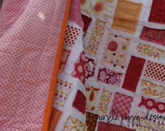 custom scrappy ticker tape baby quilt (30x30)