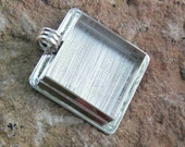 Extra Large Square Pendant Blank - Silver