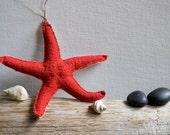 Red Blood Star - Starfish Ornament